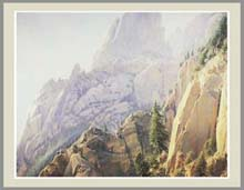 Wilson Hurley print of a rocky mountain side